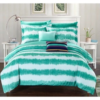 Chic Home Lucas Turquoise 9-Piece Bed in a Bag with Sheet Set