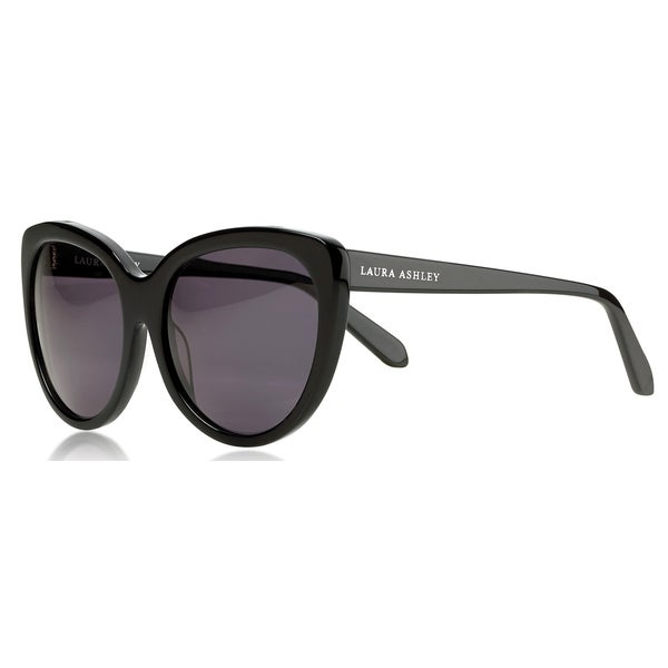Laura Ashley Ladies Black Acetate Classic Cat-eye Sunglasses