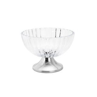 Falco Glass Fruit Bowl With Steel Stand