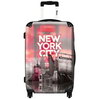 iKase 'New York City Pink' 24-inch Fashion Hardside Spinner Suitcase