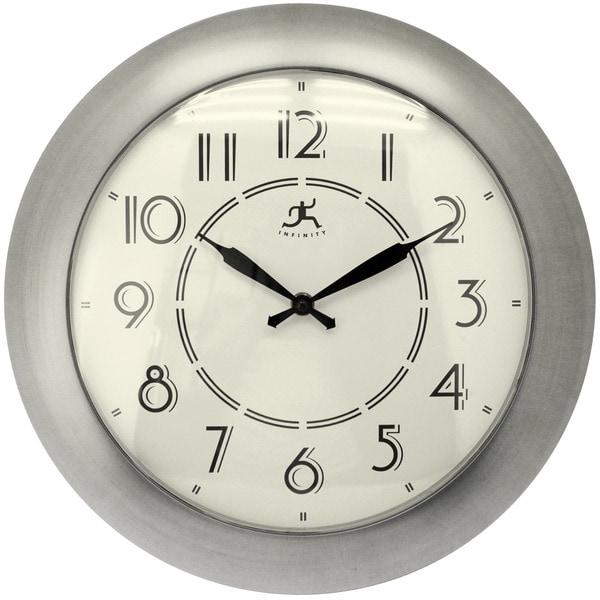 Infinity Instruments Jitter Bug Nickel-finish 14.5-inch Wall Clock