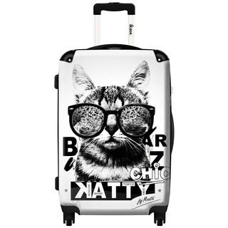 iKase 'Liberty Cat' 24-inch Fashion Hardside Spinner Suitcase