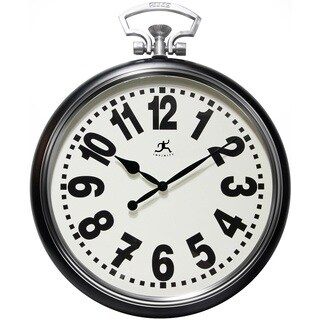 Infinity Instruments Glass/Steel 25-inch Broadway Wall Clock