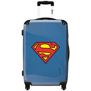 iKase 'Superman Red Logo' 24-inch Fashion Hardside Spinner Suitcase
