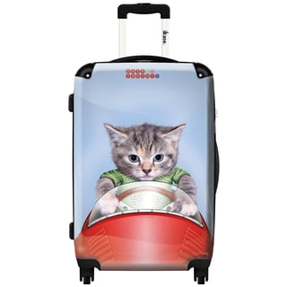 iKase 'Tabby Is Racing' 24-inch Fashion Hardside Spinner Suitcase