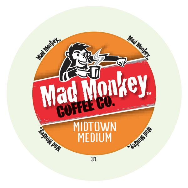 Mad Monkey Midtown Medium RealCup Portion Pack For Keurig Brewers