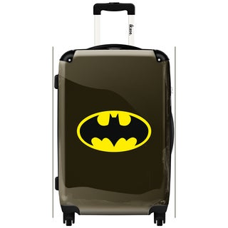 iKase 'Batman Black Logo' 24-inch Fashion Hardside Spinner Suitcase