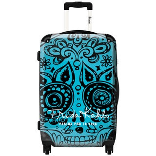 iKase 'Frida Kahlo Skull Head Blue' 24-inch Fashion Hardside Spinner Suitcase