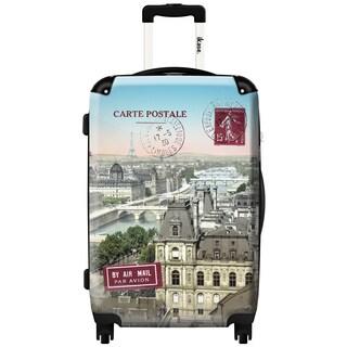 iKase 'Paris Postcard' 24-inch Fashion Hardside Spinner Suitcase