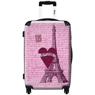 iKase 'Paris I Love You' 24-inch Fashion Hardside Spinner Suitcase
