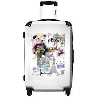 iKase 'Lulu Castagnette in Paris' 24-inch Fashion Hardside Spinner Suitcase