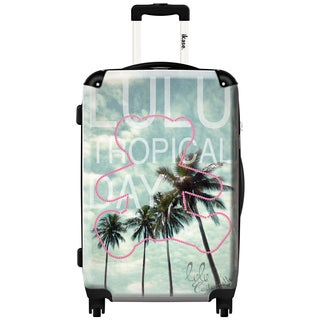 iKase 'Lulu Castagnette Tropical' 24-inch Fashion Hardside Spinner Suitcase