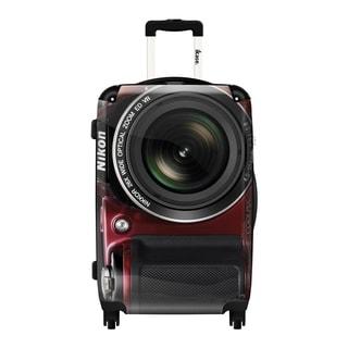 iKase 'Camera Nikon' 24-inch Fashion Hardside Spinner Suitcase