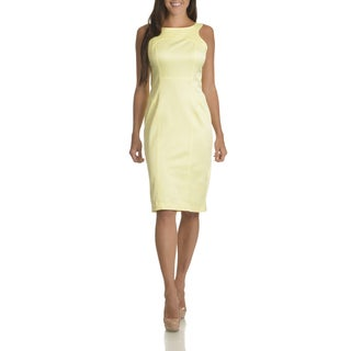 Sharagano Women's Seam Detail with Cut-out Back Sheath Dress