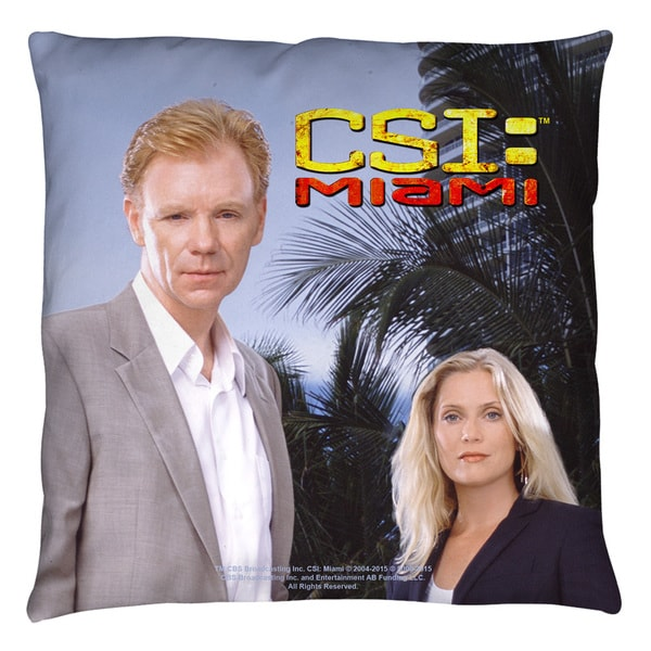 Csi Miami/Blue Sky White Throw Pillow
