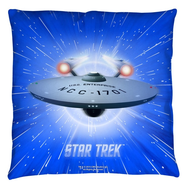 Star Trek/All She'S Got White Throw Pillow