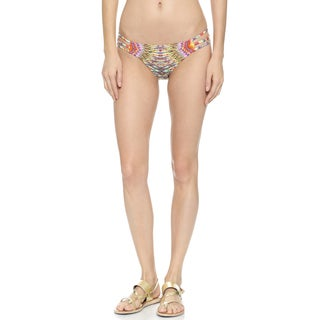 PilyQ Sunbeam Strappy Beaded Full Bikini Bottom