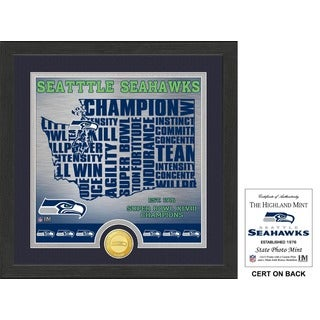 """Seattle Seahawks """"State"""" Bronze Coin Photo Mint"""