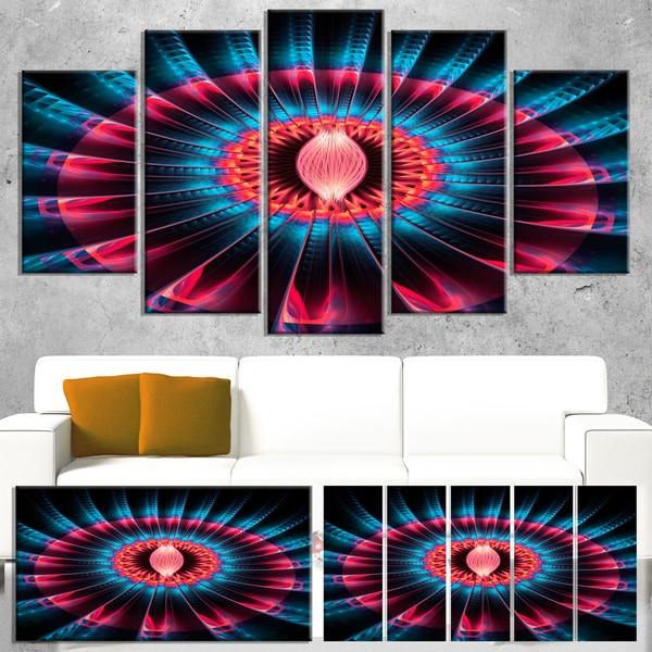 Abstract Colorful Fractal Flower - Floral Large Abstract Art Canvas Print