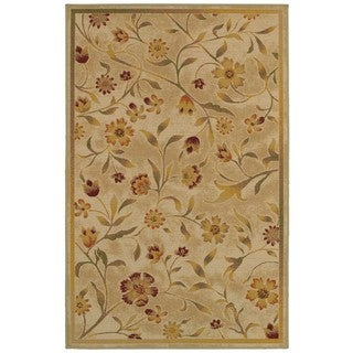 Style Haven Beige and Gold Nylon 4'4 X 6'9 Rug