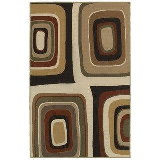 Orgainic Bold Brown/Ivory Rug (4'4 x 6'9)