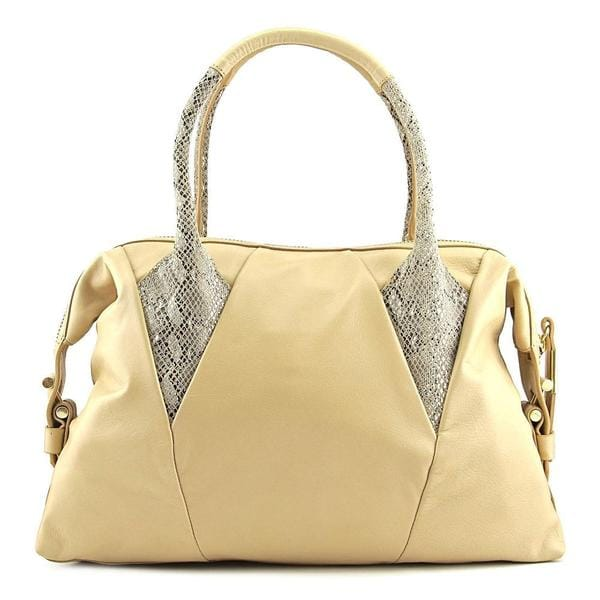Foley + Corinna Women's 'Calypso Satchel' Beige Leather Handbags