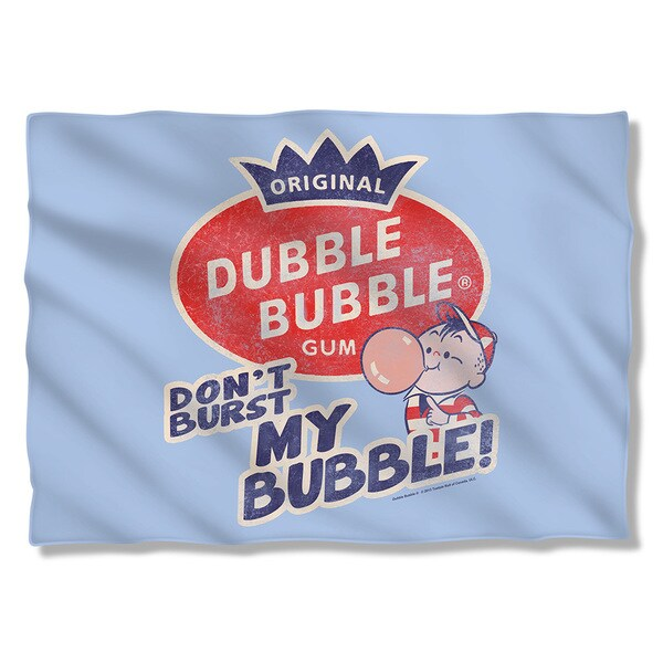 Dubble Bubble/Burst Bubble (Front/Back Print) Pillow Case in White 19695535