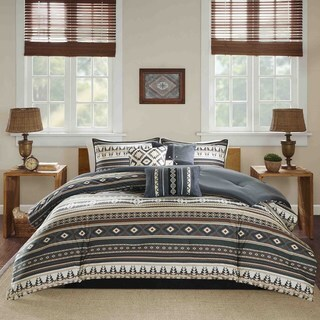 Madison Park Davy Black 7-piece Comforter Set