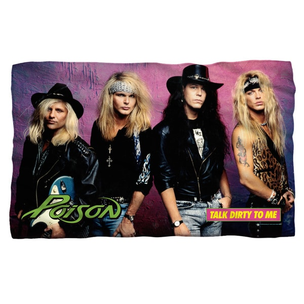 Poison/Talk Dirty Fleece Blanket in White