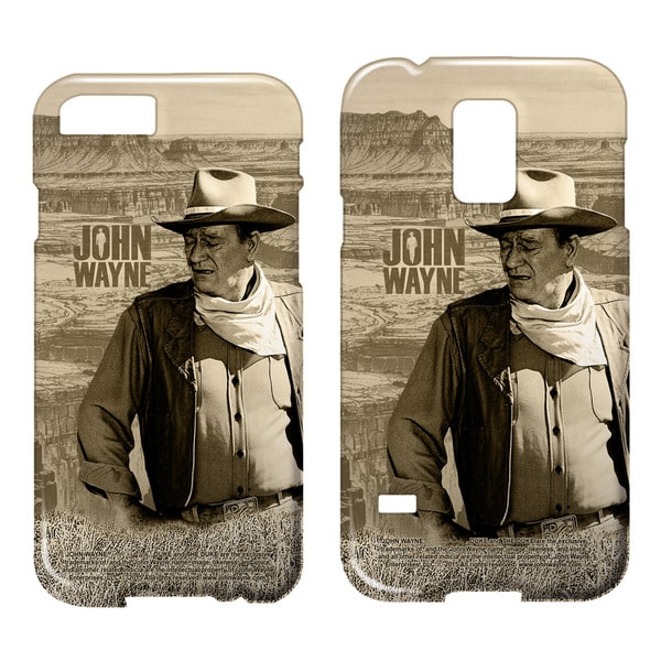 John Wayne/Stoic Cowboy Barely There Smartphone Case (Multiple Devices) in White