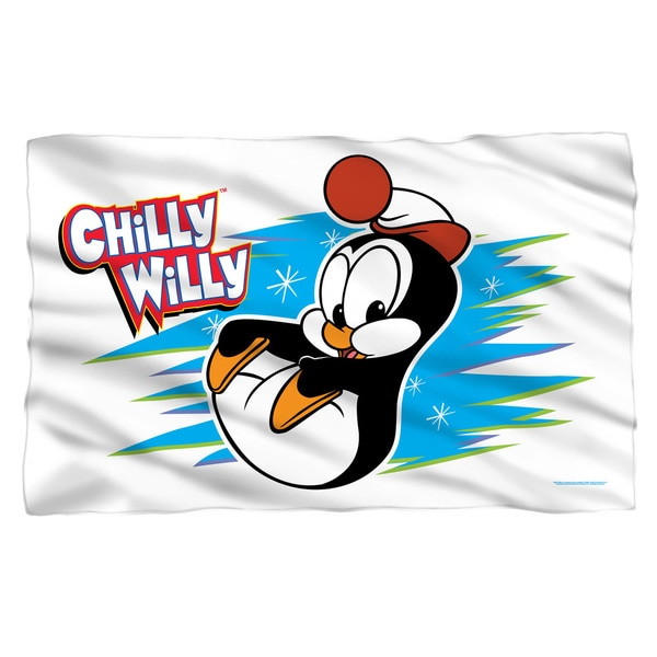Chilly Willy/Chilly Fleece Blanket in White