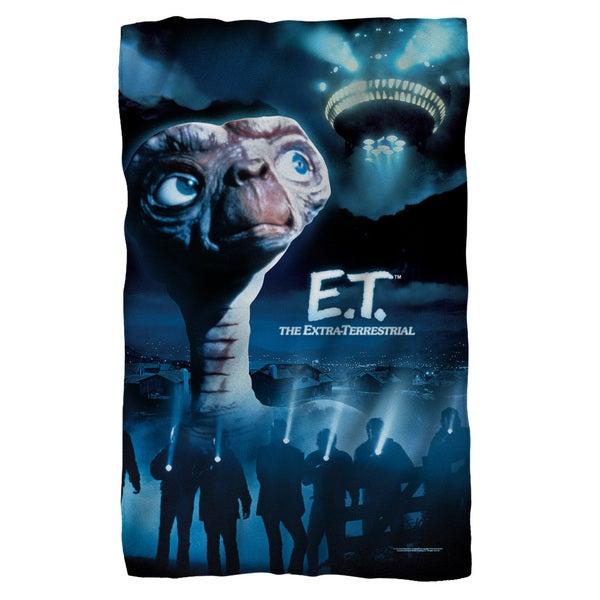 Et/Title Fleece Blanket in White