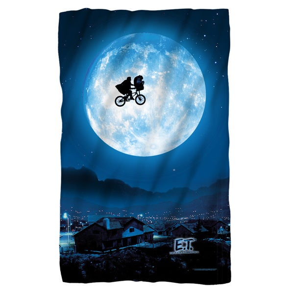 Et/Moon Fleece Blanket in White