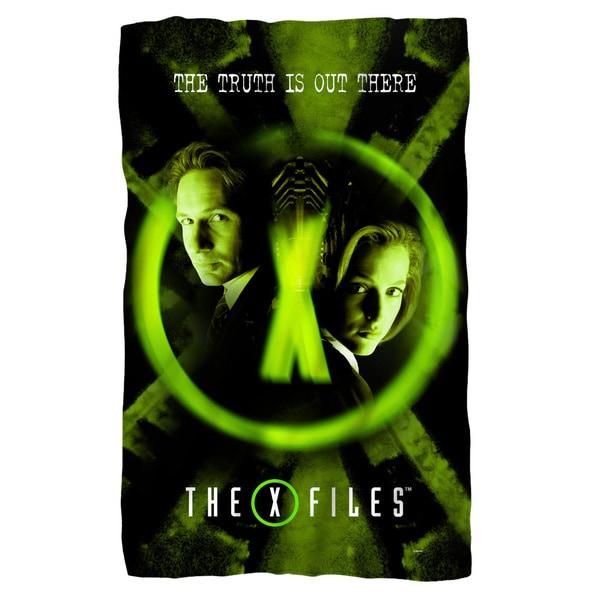 X Files/Trust No One Fleece Blanket in White