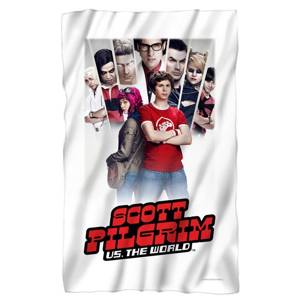 Scott Pilgrim/Poster Fleece Blanket in White