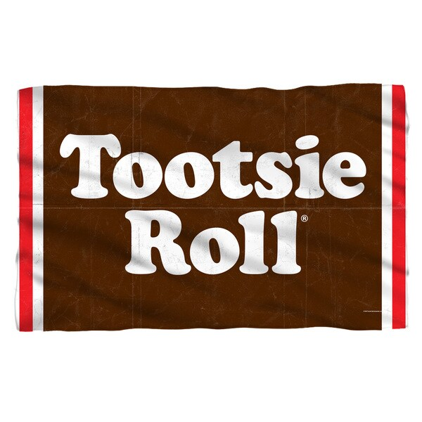 Tootsie Roll/Wrapper Fleece Blanket in White