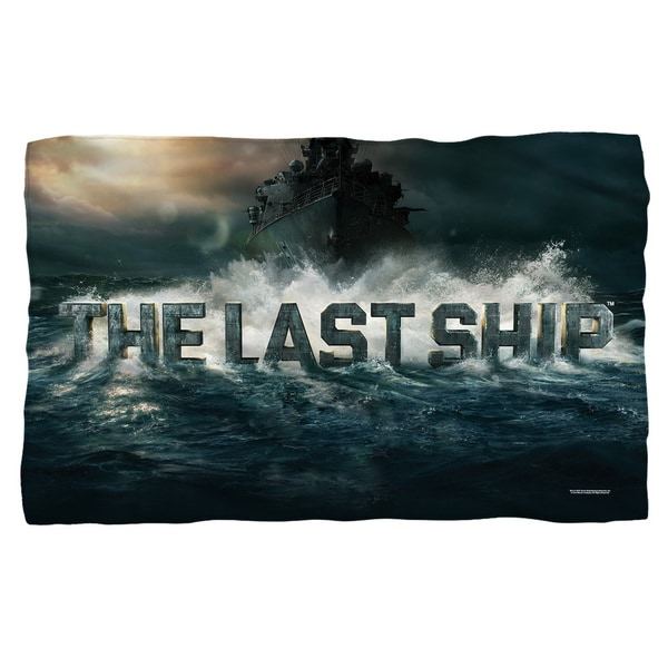 Last Ship/Out To Sea Fleece Blanket in White
