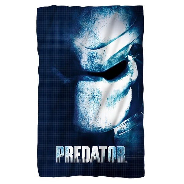 Predator/Mask Fleece Blanket in White