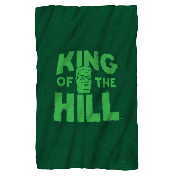 King Of The Hill/In Grass Fleece Blanket in White