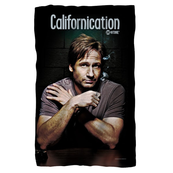 Californication/Moody Fleece Blanket in White