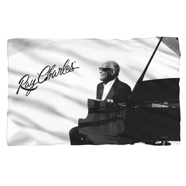 Ray Charles/Sunny Ray Fleece Blanket in White 19697639