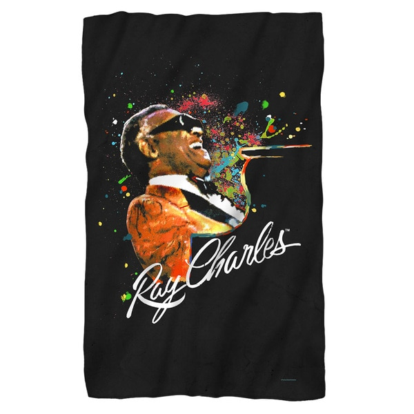 Ray Charles/Soul Fleece Blanket in White