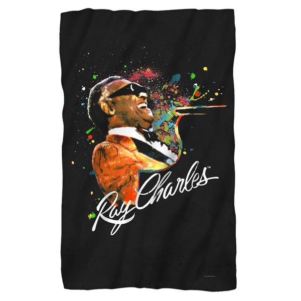 Ray Charles/Soul Fleece Blanket in White 19697649
