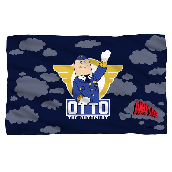 Airplane/Otto Fleece Blanket in White