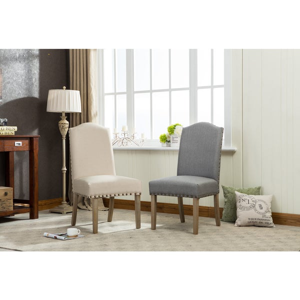 Mod Urban Solid Wood Upholstered Parson Chairs (Set of 2)