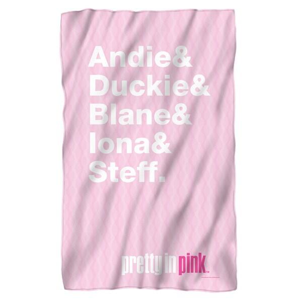 Pretty in Pink/The List Fleece Blanket in White