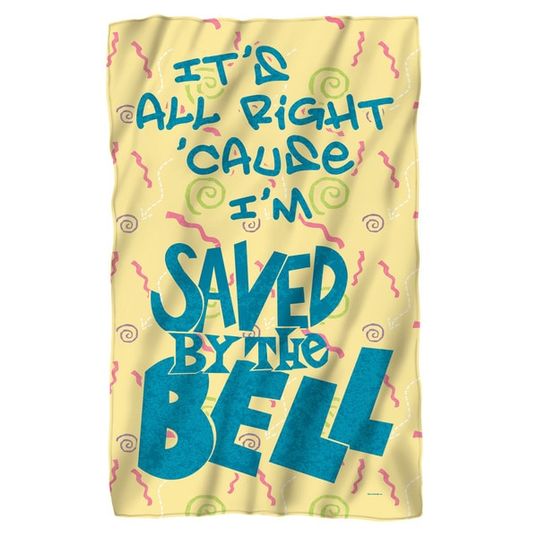 Saved By The Bell/All Right Fleece Blanket in White