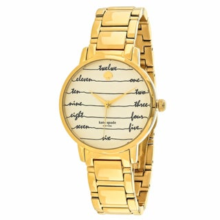 Kate Spade Women's KSW1060 Gramercy Round White dial Stainless steel bracelet Watch