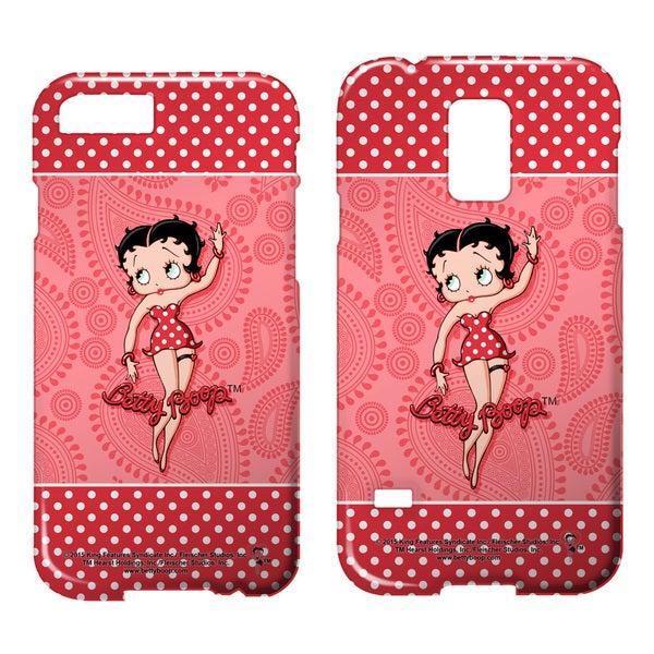 Betty Boop/Paisley & Polka Dots Barely There Smartphone Case (Multiple Devices) in White