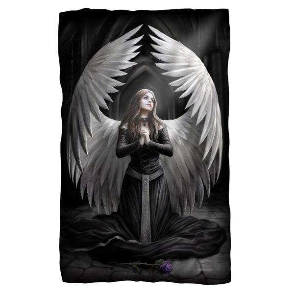 Anne Stokes/Prayer For The Fallen Fleece Blanket in White